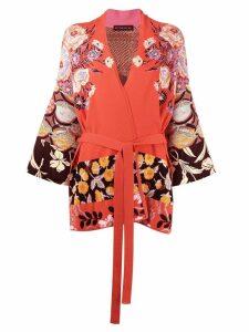 Etro floral wrap cardigan - Pink