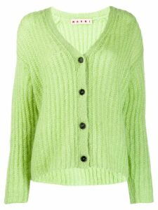 Marni ribbed cardigan - Green