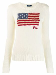 Polo Ralph Lauren U.S.A. flag jumper - NEUTRALS