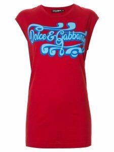 Dolce & Gabbana logo print tank top - Red