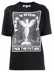 McQ Alexander McQueen 'Free your soul' printed T-shirt - Black