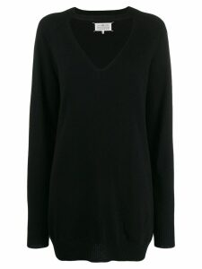 Maison Margiela oversized cut out jumper - Black