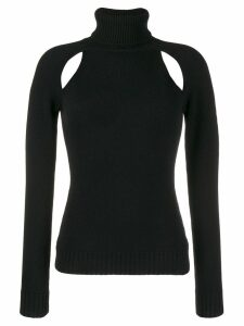 Tom Ford cut-out turtleneck sweater - Black