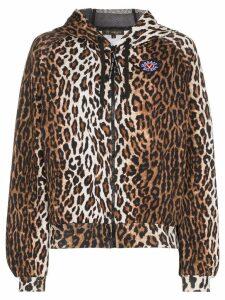 Versace leopard print hoodie - Brown