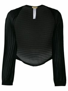 LIU JO pleated bolero - Black