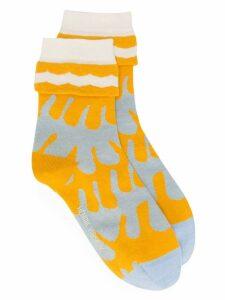 Henrik Vibskov Frill socks - Yellow