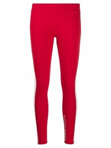Perfect Moment mesh-trimmed leggings - Red