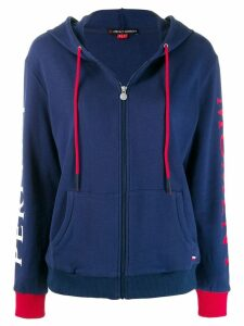 Perfect Moment zipped hoodie - Blue