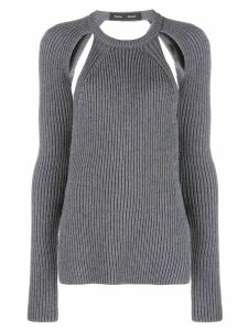 Proenza Schouler Heavy Knit Crewneck Top - Grey