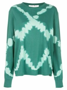 Proenza Schouler White Label PSWL diamond tie dye long sleeve T-shirt
