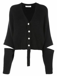 Proenza Schouler Double Faced Knit Cropped Cardigan - Black