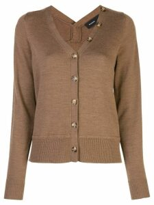 Proenza Schouler Extended Button Merino Cardigan - Brown