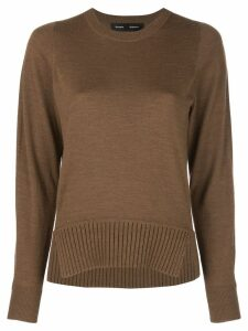 Proenza Schouler Merino crew neck Top - Brown