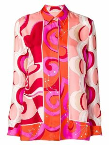 Emilio Pucci Fuchsia Copacabana Print Silk Shirt - Pink