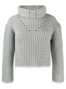 Fendi roll neck knitted jumper - Grey