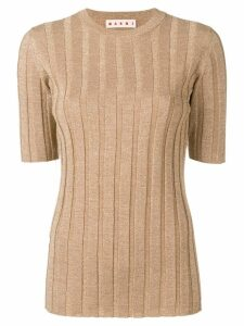 Marni ribbed knit top - GOLD