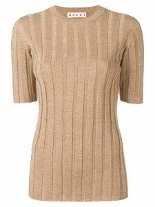 Marni ribbed knit top - GOLD