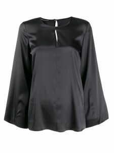 Luisa Cerano wide sleeved blouse - Grey