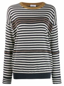 Brunello Cucinelli striped jumper - Blue