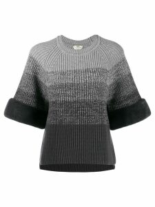 Fendi gradient knitted jumper - Grey