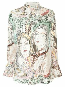 3.1 Phillip Lim Painted Ladies Print Blouse - White