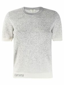 Fendi gradient style knitted jumper - Grey