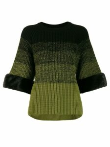 Fendi gradient knitted jumper - Black