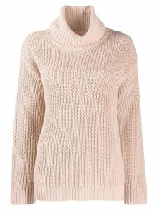 RedValentino I have a crush on you knit sweater - PINK