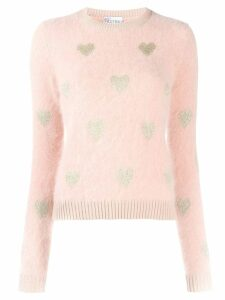 Red Valentino knitted heart sweater - NEUTRALS