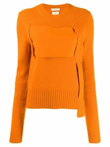 Bottega Veneta interwoven jumper - Orange