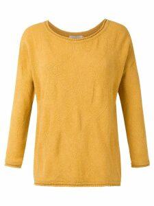 Mara Mac textured knit blouse - Yellow