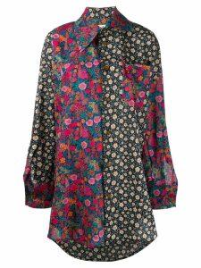 Vivienne Westwood contrast panel shirt - Blue