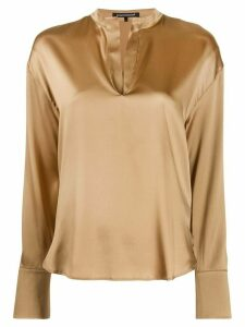 Luisa Cerano V-neck blouse - GOLD