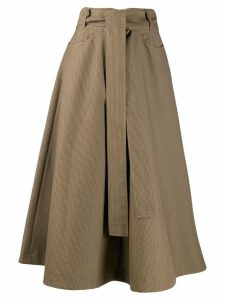 MSGM belted high-waisted skirt - Brown