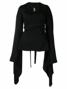 Rick Owens wrap around jacket - Black