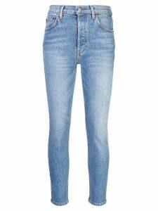 Reformation Serena skinny cropped jeans - Blue