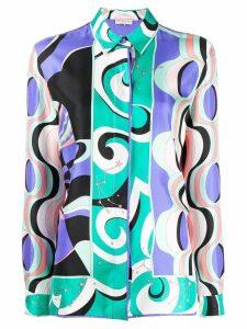 Emilio Pucci geometric pattern shirt - Blue