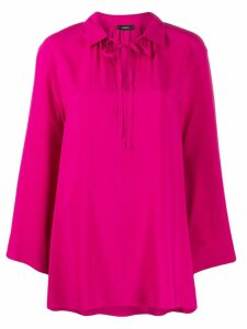 Joseph neck-tied flared blouse - Pink