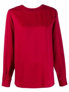 Joseph long-sleeve shift top - Red