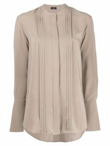 Joseph long-sleeve shift blouse - Brown