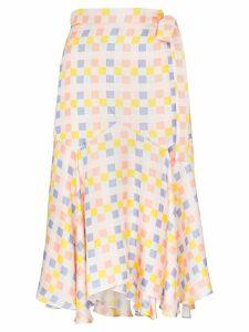Paper London check wrap midi-skirt - Multicolour