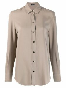 Joseph long-sleeve fitted blouse - Neutrals