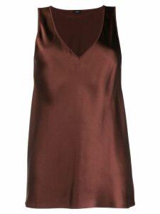 Joseph V-neck blouse - Brown