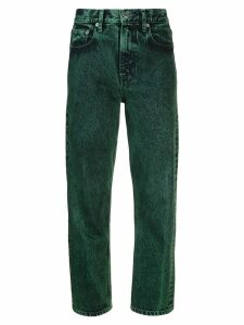 Proenza Schouler White Label PSWL Straight Overdye Jeans - Green