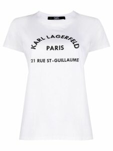 Karl Lagerfeld Address print T-Shirt - White
