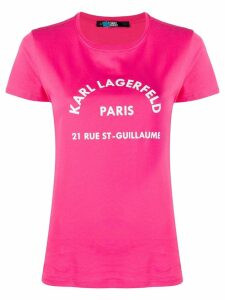 Karl Lagerfeld Address logo T-Shirt - PINK
