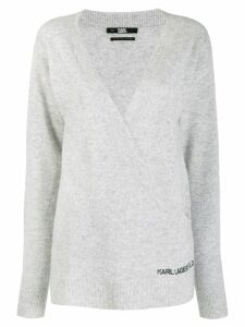 Karl Lagerfeld Rue St Guillaume wrap jumper - Grey