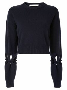 Dion Lee knot details cropped jumper - Blue