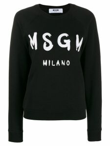 MSGM printed sweatshirt - Black