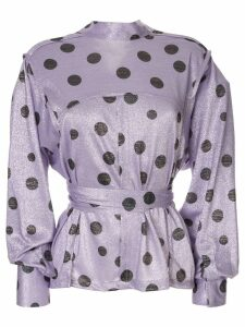 Bambah polka dot envelope blouse - Purple